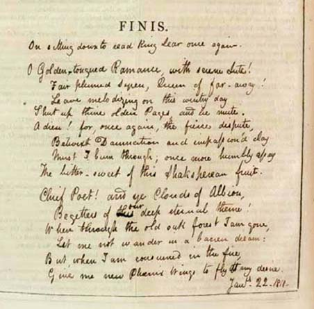Keats Poem - King Lear