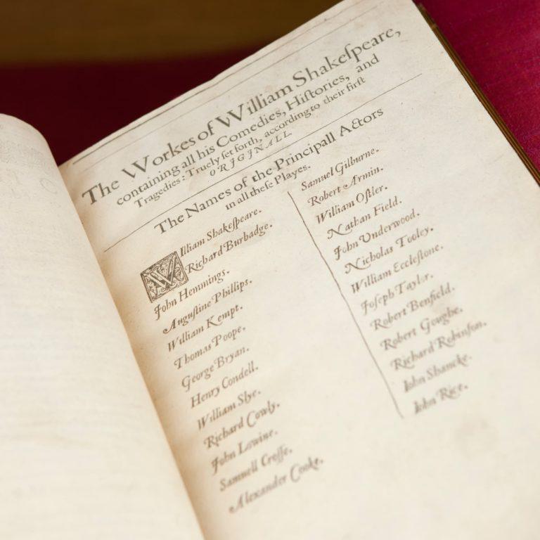 Munro Folio Contents Page