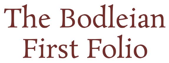 Bodleian First Folio